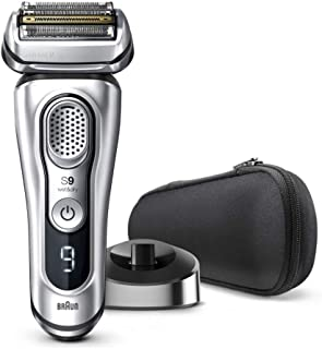 Braun Shaver 9350s,Braun Series 9 9350s Wet & Dry shaver with charging stand, silver, Silver,