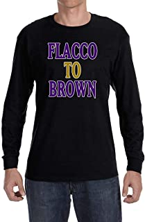 Tobin Clothing Black Baltimore Flacco to Brown Long Sleeve Shirt