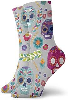 Jhonangel, Niños Niñas Locos Divertidos Calaveras de azúcar Calcetines versátiles Calcetines lindos de vestir de novedad