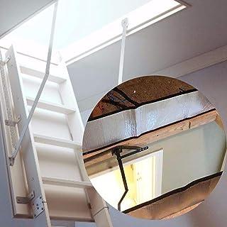 Happt Cubierta de la Escalera del ático, Tienda de Aislamiento de Las escaleras del ático Kit de aislador de Puerta de Papel de Aluminio de Doble Cara Eco Friendly Frugal