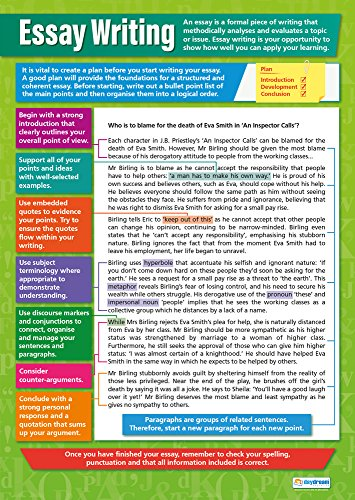 Essay Writing   English Posters for Common Core State Standards (CCSS)   Gloss Paper 33� x 23.5�   Language Arts Classroom Posters   Education Charts by Daydream Education