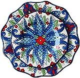 ZHEYANG Piatti Fondi Home Plate Kitchen Family Dinner Ceramica stoviglie Piatto Piatto (Colore: Blu, Dimensione: 23,4 Centimetri / 30cm) (Colore : Blue, Taglia : 23.4cm/30cm)