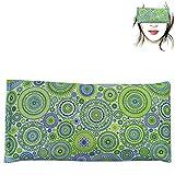 Almohada para los ojos 'Mandalas verde' | Semillas de Lavanda y arroz | Yoga, Meditación, Relajación, descanso de ojos...