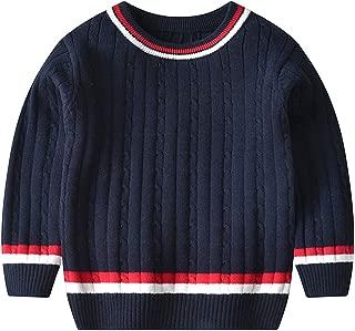 Hajotrawa Men Round-Neck Knitwear Casual Pullover Long Sleeve Sweaters