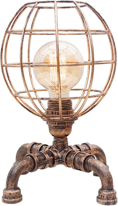 Loft Schmiedeeisen Retro Personalisierte Tischlampe Amerikanischen Schreibtisch Schlafzimmer Nachttischlampe, 9,05  11,41 Zoll
