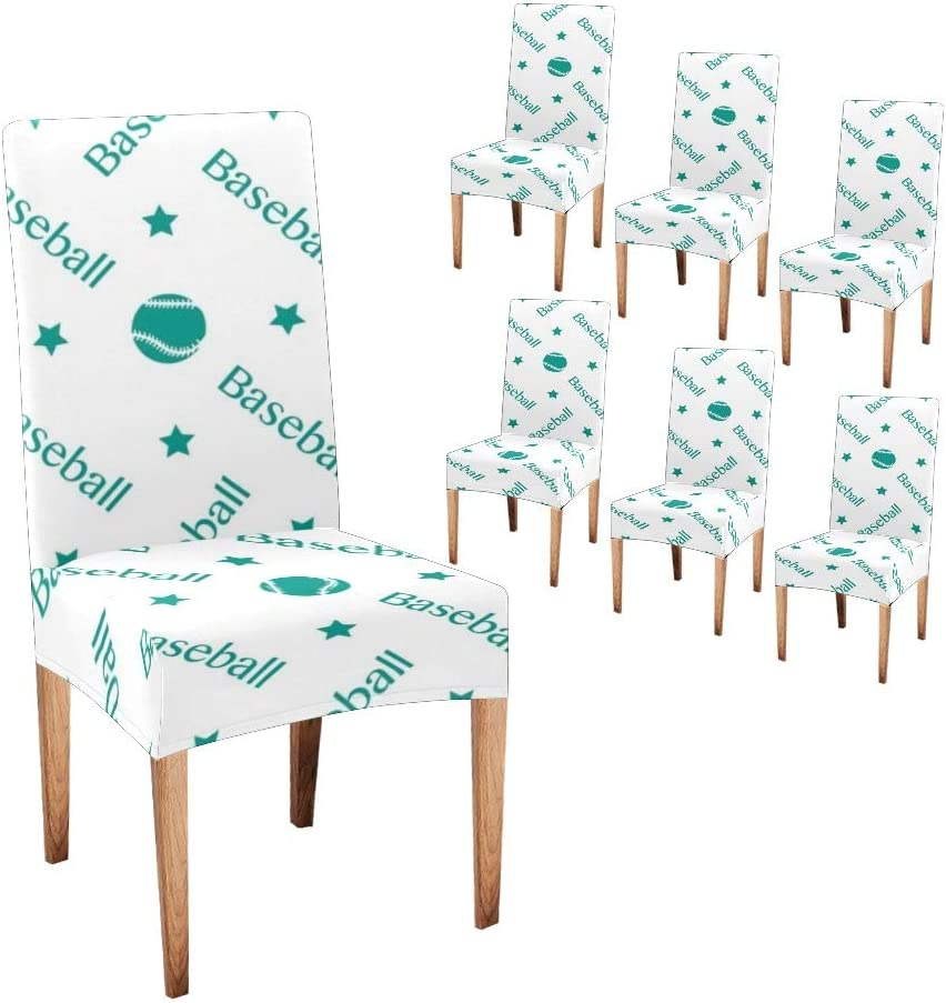 Our shop OFFers the best service CUXWEOT San Francisco Mall Chair Covers for Dining Seat Baseball Room Sport