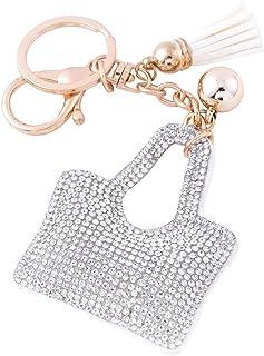 Soleebee Glitter Keychain Premium SS6 Crystal Tassel Key Chain Leather Bag  Charm for Women Girls f78ba82f3