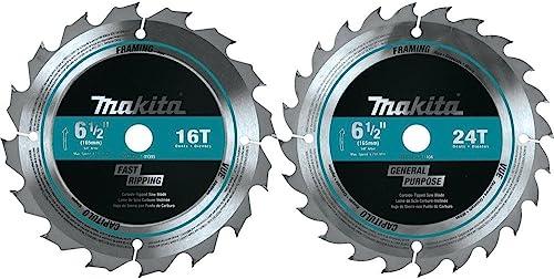 "wholesale Makita T-01426 discount 2 Pc. 6-1/2"" Carbide-Tipped Circular Saw 2021 Blade Set online sale"