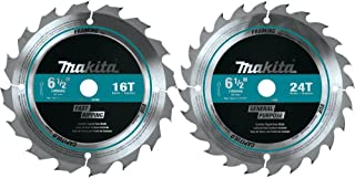 Makita T-01426 2 Piece Carbide-Tipped Saw Blade Set, 6-1/2