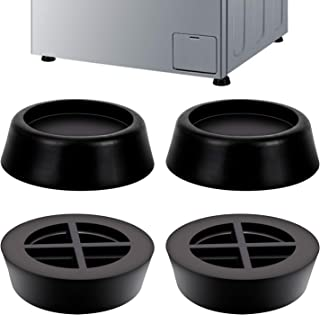 LUTER Universal Washing Machine anti vibration Feet Washer Dryer Foot Pads Washing Machine Mat Pan Tray Stand Stabilizer Pedestal for Antivibration and Anti-Walk(4 PACK)
