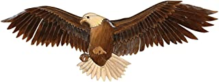Flying Eagle Wood Carving Rustic Wall Art - Cabin Decor