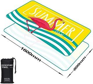 速乾性タオルビーチタオルアウトドアスポーツタオルアウトドアビーチレジャー/ヨガの練習/スイミング/フィットネスエクササイズ-8-160*80cm