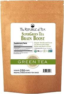 The Republic of Tea Brain Boost Supergreen Tea, 250 Tea Bags, Ginkgo Biloba And Matcha Tea Blend