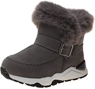 YIBLBOX Girls Snow Boots Warm Faux Fur Lined Winter Shoes for Toddler Little Kid