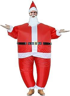 Zoomarlous Disfraz hinchable de Papá Noel, disfraz para adultos, divertido, disfraz para fiesta de Navidad