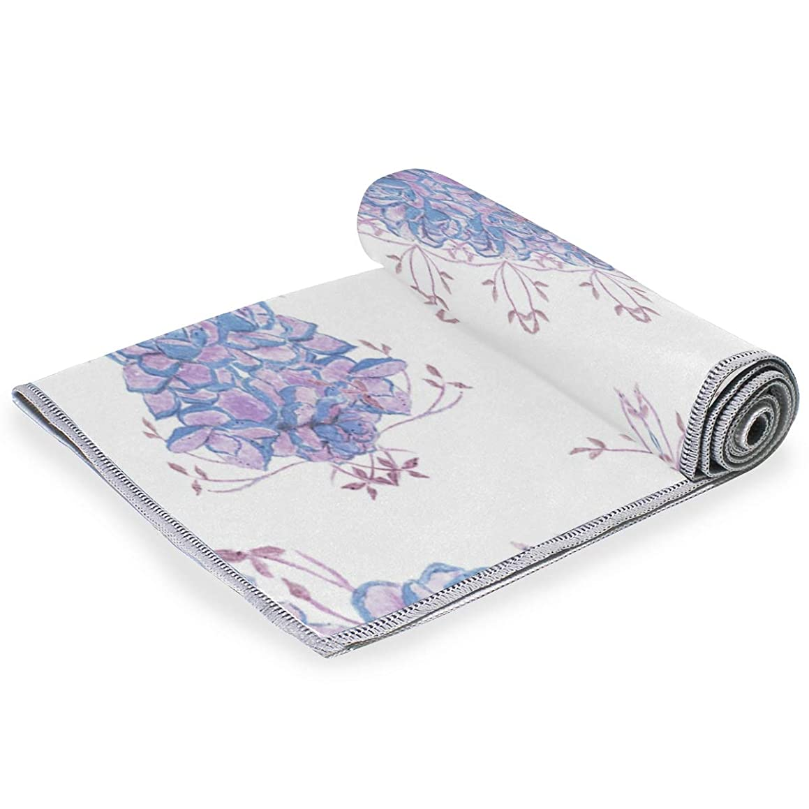 MALPLENA Blue Pink Floral Fade-Resistant Hand Towel Utopia Towels
