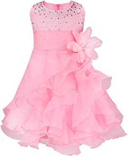 dextrad dresses Infantil Baby Girls Wedding Dress Baptism Gown Pageant Dress with Pearls Toddler Kids Princess Party Clothes