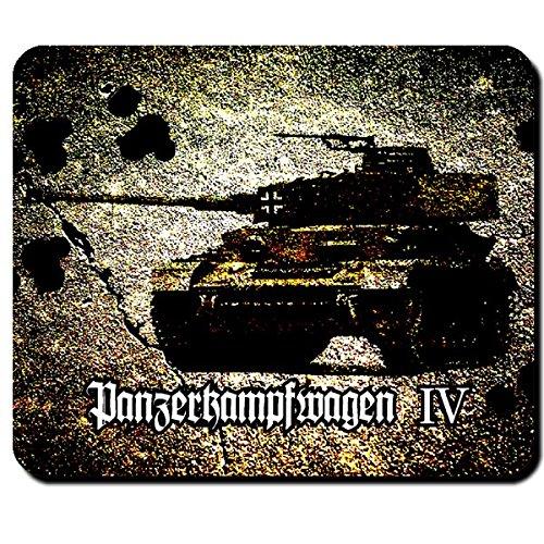 Panzerkampfwagen IV Wk Wh Deutschland PzKpfw Turm Kanone Balkenkreuz Panzerabteilung Panzerdivision - Mauspad Mousepad Computer Laptop PC #7946