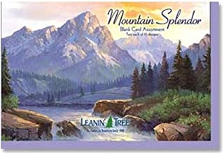 Mountain Splendor - Blank Card Assortment by Leanin' Tree (AST90648) - 20 cards with full-color interiors and 22 full-color envelopes