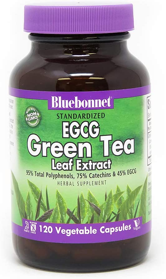BlueBonnet EGCG Green Tea Leaf Supplement Count Low price Opening large release sale Extract 120