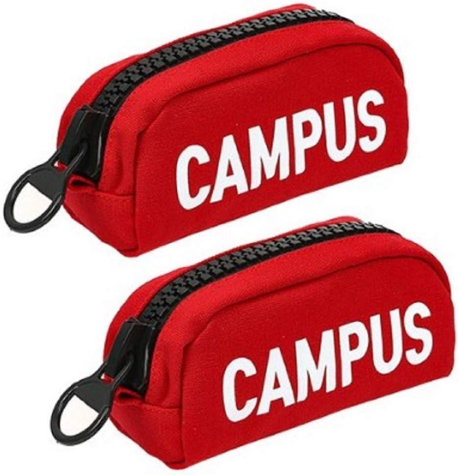 Popo Portland Mall Fancy Campus Big Zipper Pencil 1 San Antonio Mall Red Case