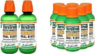 TheraBreath Fresh Breath Oral Rinse, Mild Mint, 16 Ounce Bottle (Pack of 2) and TheraBreath Fresh Breath Or...