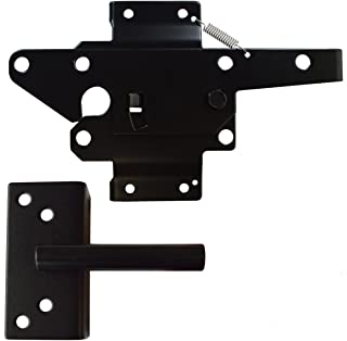 Black Commercial Grade Stainless Steel Two-way Gate Latch | Pad-Lockable | NW38308NU-SSB