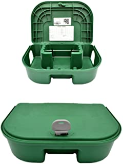 Exterminators Choice Green Bait Boxes | Includes One Bait Box and One Key | Heavy Duty Box to Control Rats, Mice and Other...