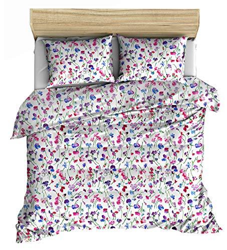 Lemur Textile – Digital Printed Flower 100% cotton 200 TC percale Duvet Cover Bedding Bed (Digitalflower, 260x220)
