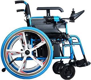 ZHANGYY Silla de Ruedas eléctrica Inteligente Ligera Plegable Silla eléctrica compacta Ligera Plegable Llevar Sillas de Ruedas motorizadas para discapacitados y Personas Mayores Movilidad