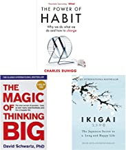 The Power of Habit: Why We Do What We Do, and How to Change+The Magic of Thinking Big+Ikigai: The Japanese secret to a lon...