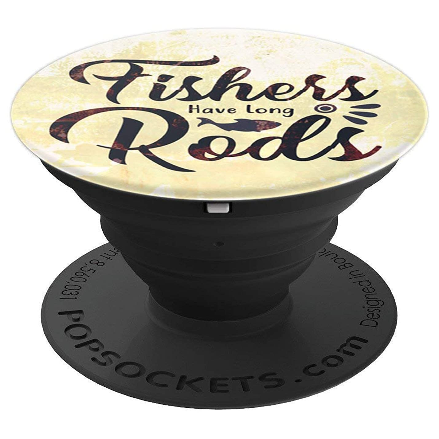 Fishing Design For Men Fisher Quote Funny Meme - Pearl White - PopSockets Grip and Stand for Phones and Tablets axgvrhdlggctp545