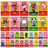 Uniq Fliker 30PCS ACNH NFC Tag Game Villager Invitation Card-New Horizons Animal Crossing Series Game, Cards Series for Switch/Switch Lite/Wii U/3DS