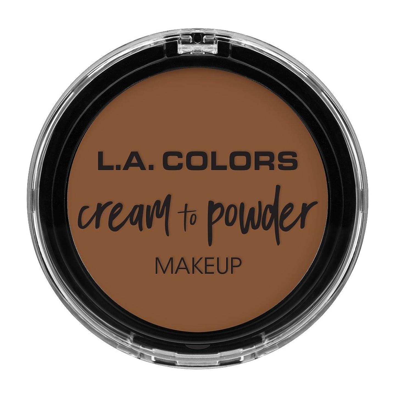 九時四十五分屋内出会いL.A. COLORS Cream To Powder Foundation - Toast (並行輸入品)
