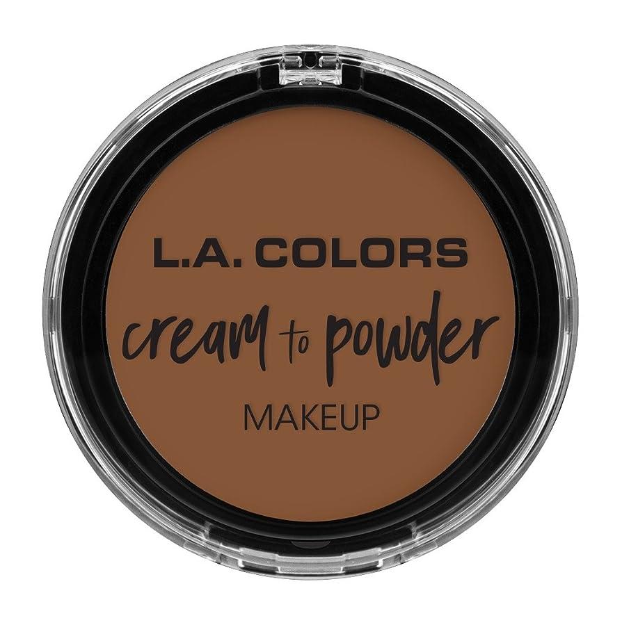 振動する鳥小競り合いL.A. COLORS Cream To Powder Foundation - Toast (並行輸入品)
