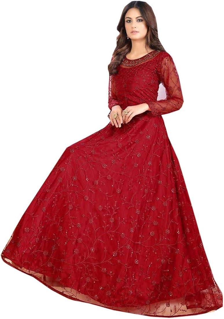 SHRI BALAJI SILK & COTTON SAREE EMPORIUM Indian/Pakistanii Bollywood Women Party Wear Long Anarkali Gown Suit 4996 c