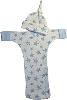 Jacqui's Baby Boys' Blue Stars Bunting Gown and Hat