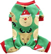 Vipeco Pet Dog Christmas anta Claus Deer Costume Puppy Winter Coats Clothes (S as shown