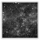 Impresionantes pegatinas cuadradas (juego de 2) 10 cm BW – Sistema Solar Space Star Art calcomanías divertidas para portátiles, tabletas, equipaje, reserva de chatarras, neveras, regalo genial #35902