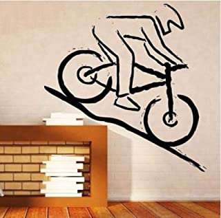 Sincin Wall Stickers Murals Sell Well Mountain Bike Rider Self-Adhesive Wall Decal Simple Style Wallpaper Beautification Environment Home Decoration
