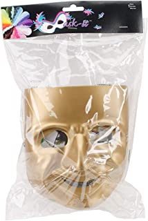 Mask-It Comedy Mask with Instruction Sheet, 7.75-Inch, Gold