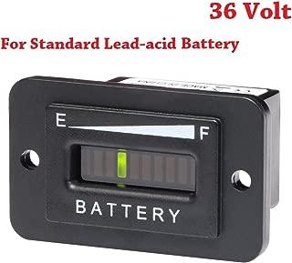 SEARON 36 Volt LED Battery Indicator Meter Gauge for Standard Lead Acid Batteries Yamaha Club Car Golf Cart Forklift ATV Lifter.(36V-Standard LAB)