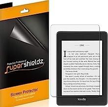 Supershieldz [3 بسته] برای Kindle Paperwhite (نسل 10th - 2018 انتشار) محافظ صفحه نمایش، ضد انفجار و ضد اثر انگشت (مات) سپر + جایگزینی طول عمر