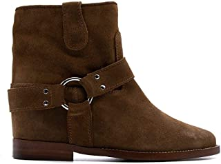 VIA ROMA 15 Luxury Fashion Womens 3255086VELOURMARTORA Brown Ankle Boots  