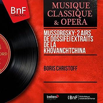 Mussorgsky: 2 Airs de Dossifeï extraits de La Khovanchtchina (1883 Version Revised by Nikolai Rimsky-Korsakov, Mono Version)
