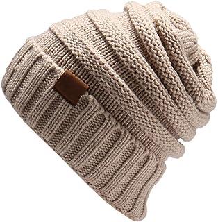 Trendy Women's Warm Oversized Chunky Baggy Stretchy Slouchy Skully Beanie Hat Snow Knit Ski Bobble Cap