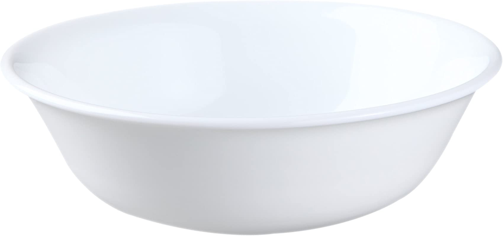 Corelle Soup Cereal Bowls Set 18 Ounce 6 Piece Winter Frost White