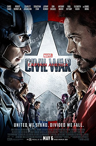 PremiumPrints - Marvel Captain America Civil War Movie Poster Glossy Finish Made in USA - FIL259 (24' x 36' (61cm x 91.5cm))