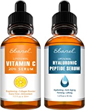 Vitamin C Serum Hyaluronic Acid Serum for Face and Eyes - Ultimate Anti Aging Serum Set - Deep Hydrating, Visibly Plump, Firm & Smooth Skin, Brighten & Even Skin Tone, Reduce Redness & Inflammation