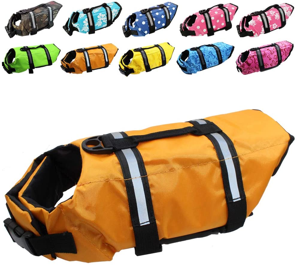 Dog Life Jacket Easy-Fit Adjustable Mail order cheap Pet Swimming Saver Belt Safe New item